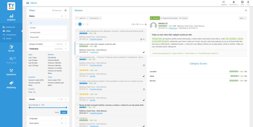 zobrazení google recenzí, bookin.com recenzí atripadvisor recenzí najednom místě